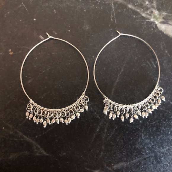 Free People Jewelry - Sterling Silver Free People Loop Earrings